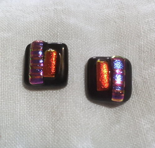 Goldsmith Fused Glass Earrings