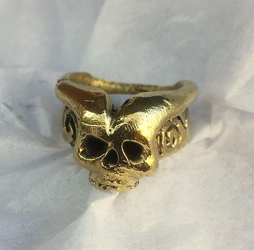 Eli Secrest Bronze Demon Ring Size 10