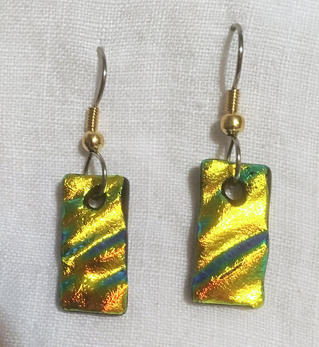 Goldsmith Glass Dichroic Earrings