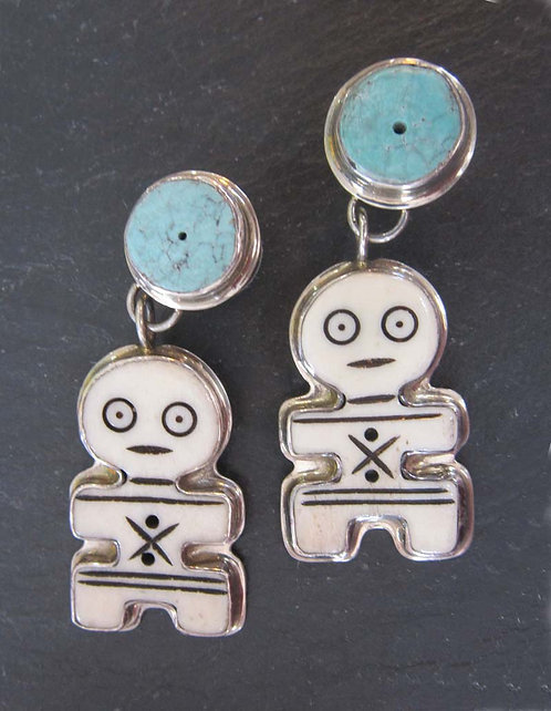 Gail Goldin Turquoise Earrings
