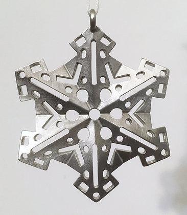 Vilmain Pewter Snowflake Ornaments #8