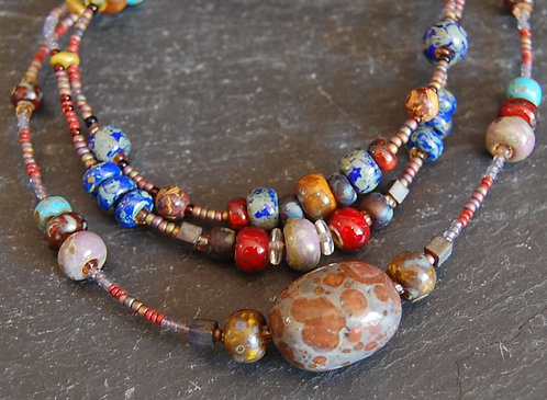 Galloway Beaded Necklace - Picasso Two