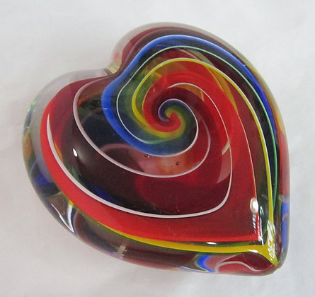 Glass Eye Studio Rainbow Heart Weights