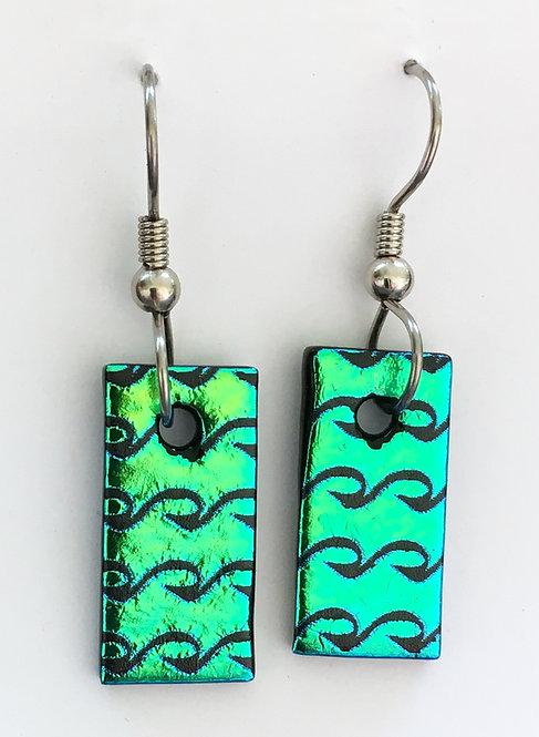 Goldsmith Glass Dichroic Earrings
