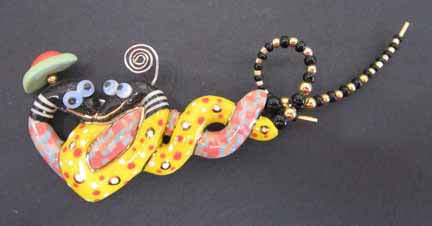 Jewelry 10 Love Snakes Pin