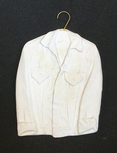 Tannenbaum Porcelain Ornament - Denim Jacket
