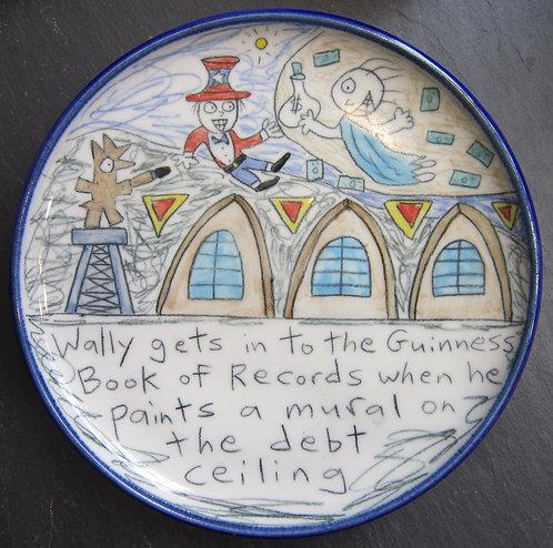 Wallyware Debt Ceiling Plate