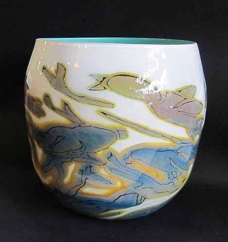 Beck Glass Vase - Birds