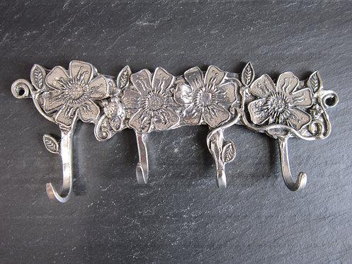 Crosby & Taylor Pewter Key Hooks - Flowers