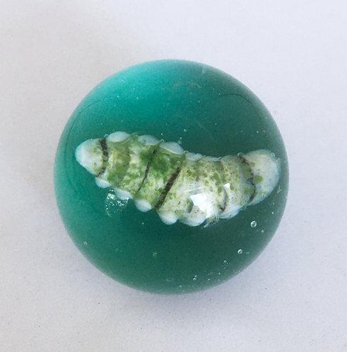 Fig Lampworked Marble Fig Beetle Grub