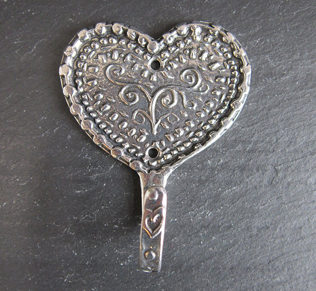 Crosby & Taylor Pewter Heart Hooks