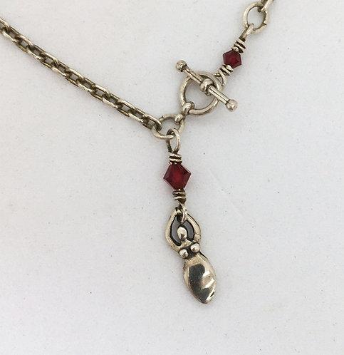 Jane Campbell Sterling Silver Goddess Necklace