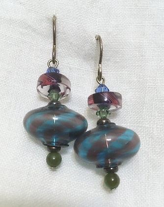 Vitriesses Glass Hollow Bead Earrings