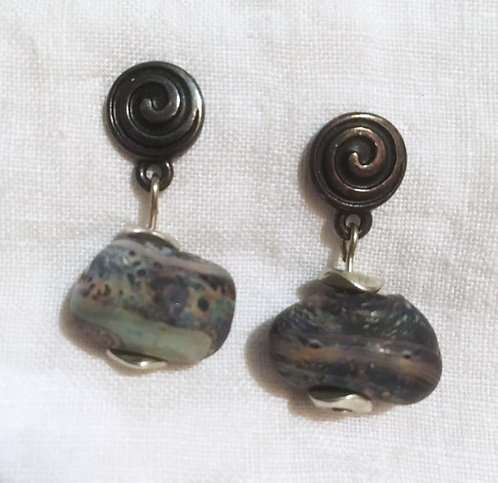 First Glass Lampworked Earrings