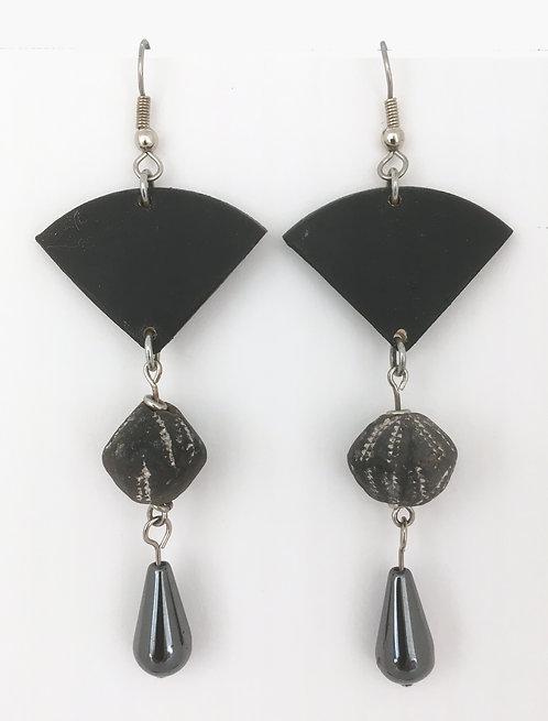 Corbett Hematite Drop Dangle Earrings
