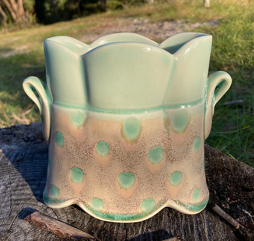 Amelia Stamps Oval Vase