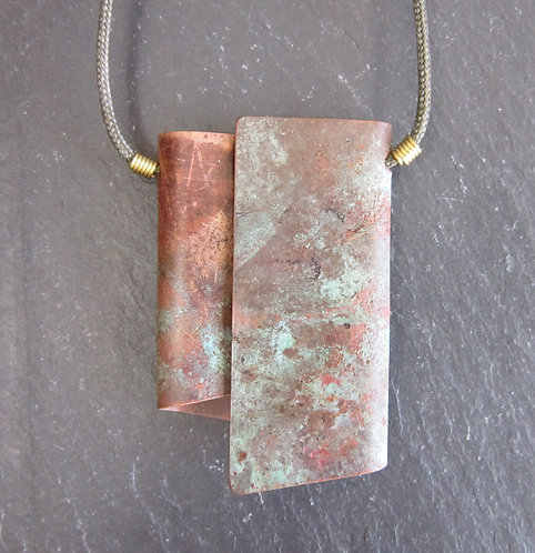 Currents Recycled Copper Fold Necklace
