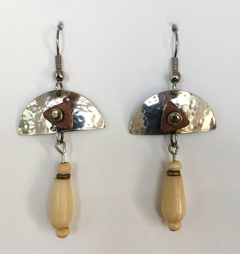 Corbett Sterling Silver and Bone Earrings