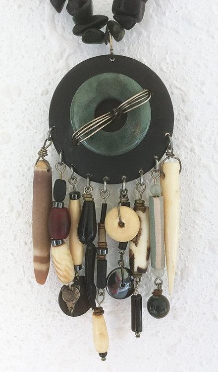 Corbett Jade Medallion Necklace
