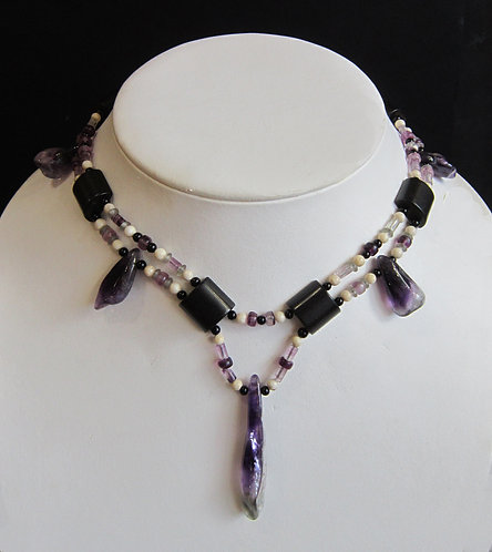 Galloway Amethyst Spear Necklace