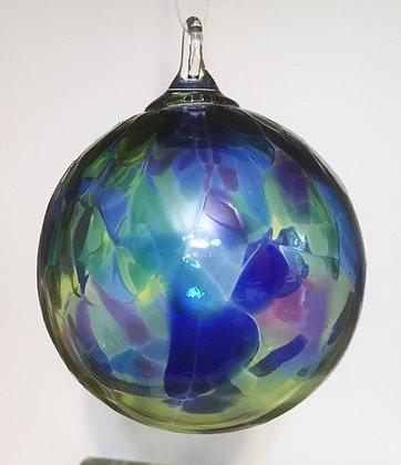 Glass Eye Studio Ornament Blue Mosaic