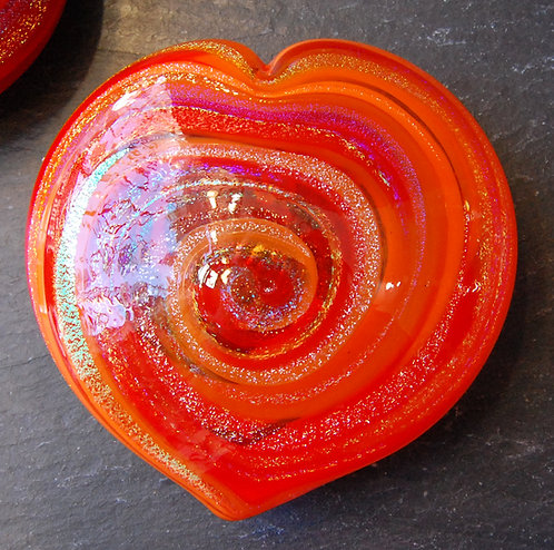Mad Art Swirl Glass Heart Weights