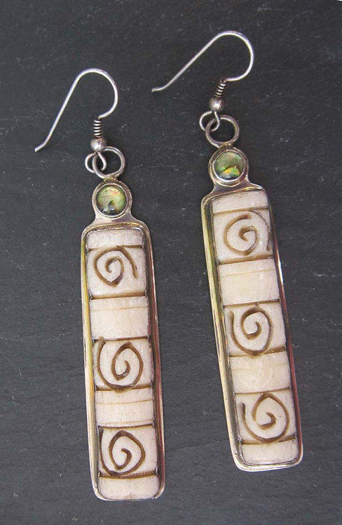 Gail Goldin Bone Earrings