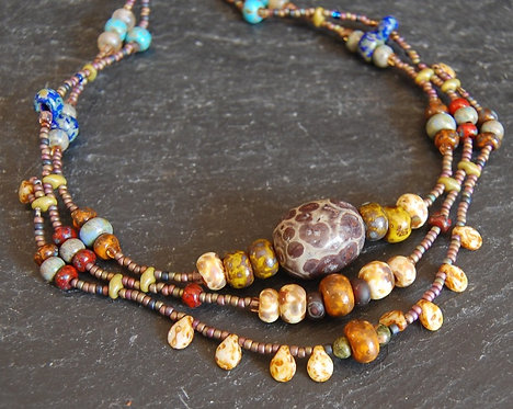 Galloway Beaded Necklace - Picasso One
