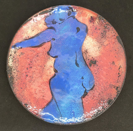Barb Sipher Enameled Copper Plate