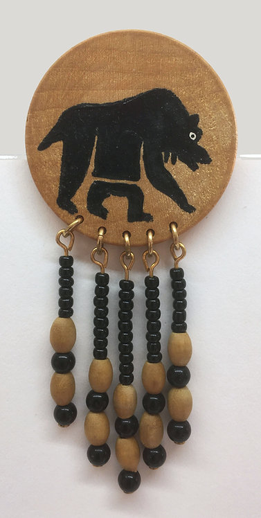 Corbett Grizzly Bear Petroglyph Pin