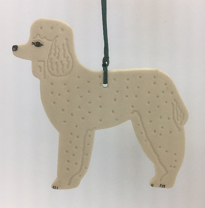 Tewksbury Porcelain Ornament - Poodle
