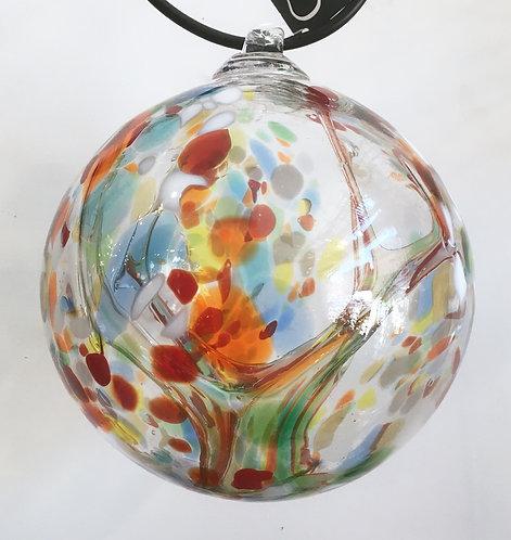 Gray Art Glass X-Large Witch Ball