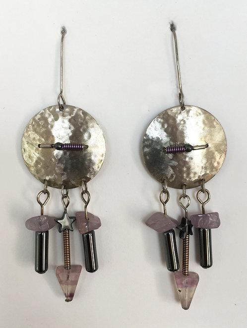 Corbett Sterling Silver and Amethyst Earrings