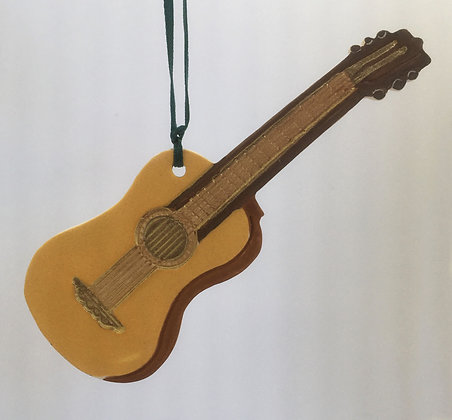 Tewksbury Porcelain Ornament - Guitar