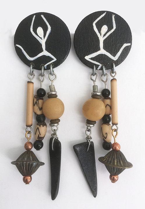 Corbett African Petroglyph Earrings and Pin