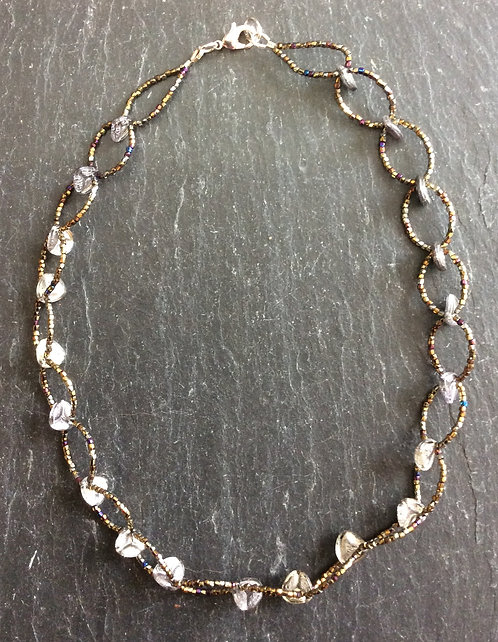 Galloway Beaded Necklace - Opal Czech Glass