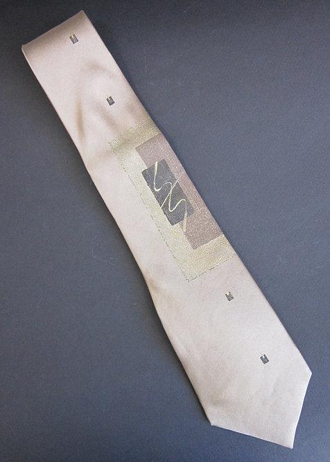 Moonglow Silk Necktie - Abstract