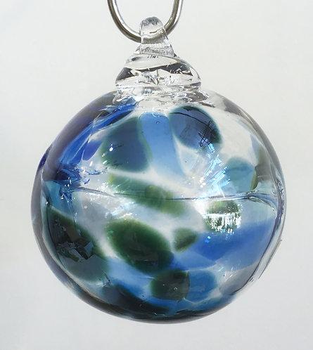 Gray Art Glass Mini Witch Ball