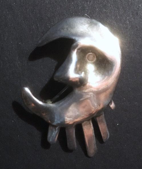Nomi Sterling Silver Moon Pendant/Brooch