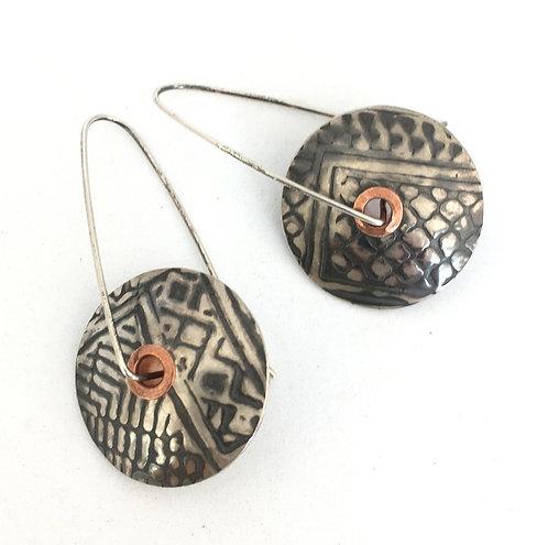 Kindred Spirits Sterling Silver Disc Earrings