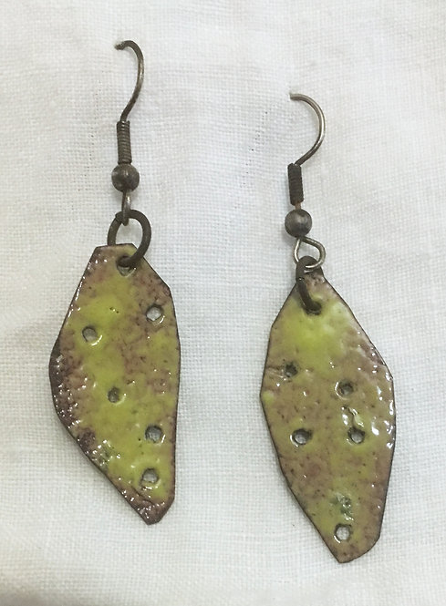 Barb Sipher Dangle Enamel Earrings