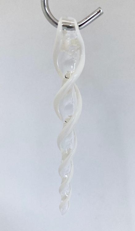 Boise Art Glass Icicles - White Stripe