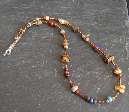 Galloway Beaded Necklace - Picasso Three