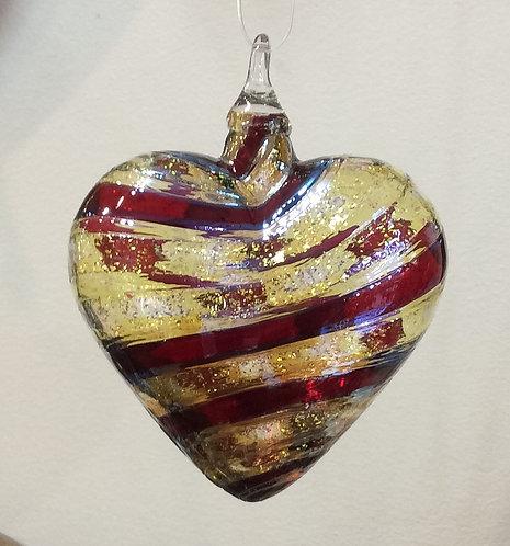 Glass Eye Studio Designer Heart Ornaments
