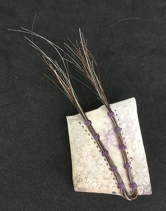 Pottery Shard and Horsehair Pin