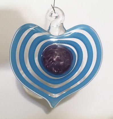 Maunsel Glass Heart Ornament