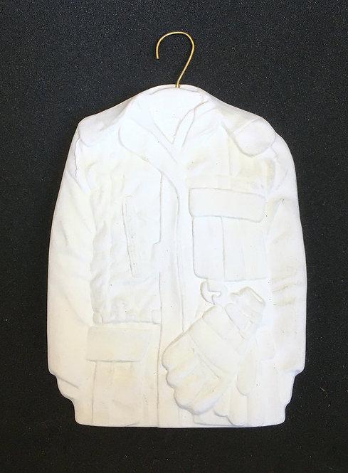 Tannenbaum Porcelain Ornament - Ski Jacket