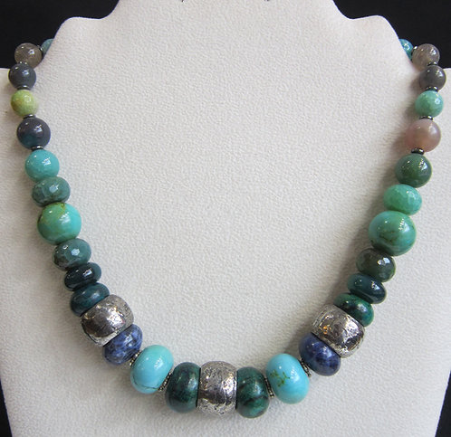 Gicker Sterling Bead Necklace