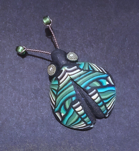Yipes Polymer Clay Bug Scatter Pin