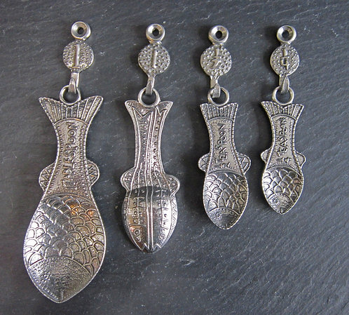 Crosby & Taylor Pewter Fish Measuring Spoons